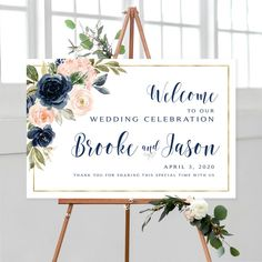 #weddingwelcomesign #welcomeweddingsign #welcomesign #weddingsign #wedding #weddingsigns #floralwelcomesign #weddingdécor #weddingposter #weddingreception #printable #sign #signs #blush #navy #blushwedding #boho #goldborder #printable #diywedding #vintage #personalized