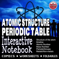 Science interactive notebook on the structure of the atom and the periodic table. With both comics students read a supplied text and then make their own comic using the images supplied.