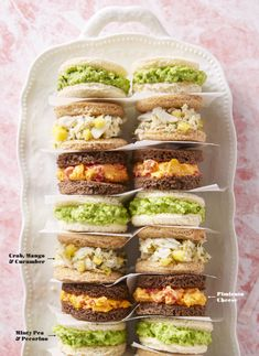Mother's Day Brunch Ideas from Good Housekeeping Magazine Online - Crab, Mango and Cucumber Finger Sandwiches! Easter Appetizers, Easy Appetizer Recipes, Easter Recipes, Meat Appetizers, Holiday Appetizers, Party Appetizers, Easter Dinner, Easter Brunch, Sunday Brunch