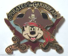 Caribbean Beach Resort pin | PIRATES OF The CARIBBEAN MICKEY Mouse EARS HAT+Earring DISNEY PIN