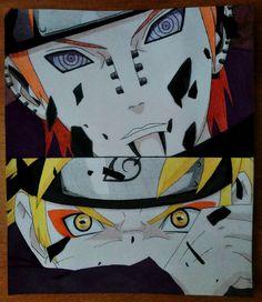 #Naruto #Yahiko #Pain #Art #Манга #Акварель #Карандаши #Watercolor #Pencil #Наруто #Яхико #Пейн #Наруто #Арт