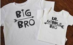 Big Bro Shirt, Middle Bro Shirt, Lil Bro, Little Brother Shirts, Matching Brother Sibling Set, Big Bro Little Bro Shirts, Big Bro, Lil Bro by PurpleAspen on Etsy