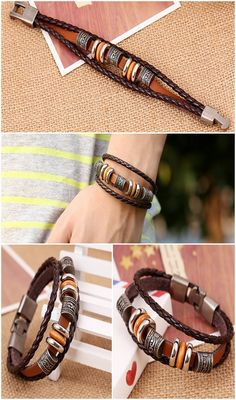 Classically beautiful, this handmade retro leather bracelet is a beautiful item. Featuring an adorable woven charm. This bracelet perfectly conveys the love you have for your cherished one.