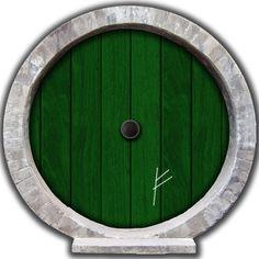 12 x 12 Hobbit Door Wall Decal with Burglar Mark