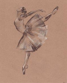 Ballerina illustration. Ballerina drawing. Ballet by madareli