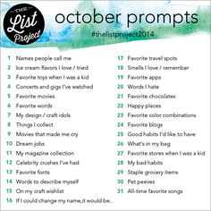 lists listography project life list challenge #thelistproject2014 https://www.facebook.com/groups/thelistproject