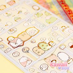 ❤ MARCH KAWAII BOX ❤ Sumikko Gurashi characters featured in this sticker sheet are very shy and love hiding in the corners where they feel safe. Awww!! Subscribe now to receive the April box! ► http://www.kawaiibox.com