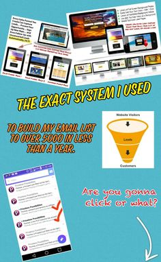 The exact system I use to create funnels, share funnels, build my list.