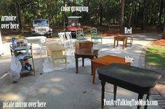 Work Station 201 » How to organize a furniture redo (especially if you are doing multiple pieces to flip)