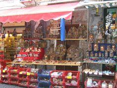 The Nativity scene shop, Naples, Italy