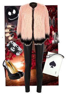 """Halloween"" by anne-kristoffersen on Polyvore featuring Rebecca Minkoff, Christian Louboutin, Yves Saint Laurent, River Island, Kate Spade, Ray-Ban and Burberry"