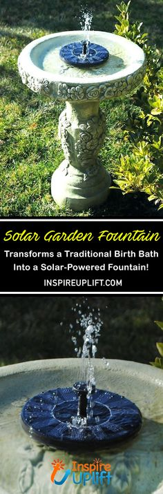 Solar Garden Fountain 😍 Solar Garden Fountain 😍 The Solar Water Fountain can be used anywhere and runs off solar power, this means no maintenance, ugly wires or set up, makin. Vegetable Planting Calendar, Planting Vegetables, Planting Seeds, Vegetable Gardening, Garden Fountains, Fountain Garden, Water Fountains, Solar Water, Yard Landscaping
