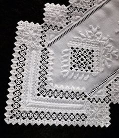 Hardanger+Table+Runner+White+on+White+by+norwegianneedle+on+Etsy,+$185.00: