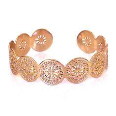 Rose gold cuff bracelet By Kelka Jewelry