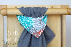 Hanging Kitchen Towel, Hanging Hand Towel, Turqouise Towel, Grey Towel, House Warming Gift, Hostess Gift, Bridal Shower Gift, B by 03LittleBirdStudio on Etsy