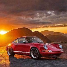 The Porsche 911 is a truly a race car you can drive on the street. It's distinctive Porsche styling is backed up by incredible race car performance. Singer Porsche, Porsche Classic, Classic Cars, Porsche 930 Turbo, 911 Turbo, Porsche Autos, Porsche Cars, Vintage Porsche, Dream Garage