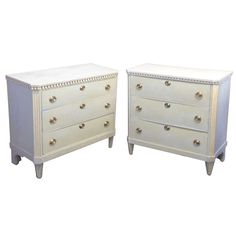 A Set of late 18th Century (Louis XVI) Light Blue Dutch Commodes | From a unique collection of antique and modern commodes and chests of drawers at http://www.1stdibs.com/furniture/storage-case-pieces/commodes-chests-of-drawers/
