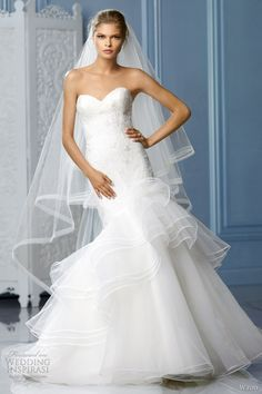 wtoo 2013 strapless white mermaid wedding dress freida