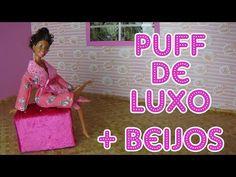 Como fazer Puff de Luxo para bonecas - YouTube