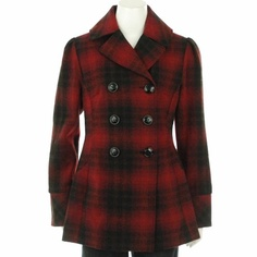 Steve Madden Plaid Pea Coat - have one of these but it's over 6 yrs old, so it's similar but an A-line cut and the pattern is a little different too.