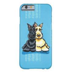 #Animals                                        Scottish Terriers Two of a Kind Barely There iPhone 6 Case                   A black and a wheaten Scottish Terrier snuggle together in this ink and pencil illustration by Andie of Off-Leash Art™. Visit Andie's Pet Paradise for more dog lover art & designs: Dogs By Breed | Newest Designs | Logo Design | Pet Business Card Design | Dog Caricatures