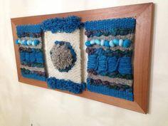 Lavanda Fieltro y Telar   Venta de artesanía chilenaHecho a mano Chile Textiles, Lana, Macrame, Diy And Crafts, Weaving, Tapestry, Crochet, Thesis, Chile