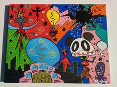 Welcome to Life 16x20 Acrylic Trippy Psychedelic by LunasNook
