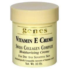 Genes Vitamin E Creme Swiss Collagen Complex Moisturizing Creme for Dry and Sensitive Skin 16 oz