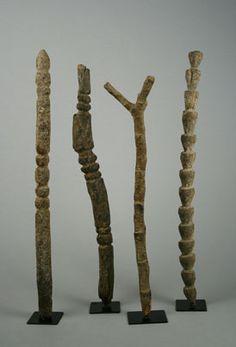 Africa | Dogon, Mali | Miniature ladders [Tellem]