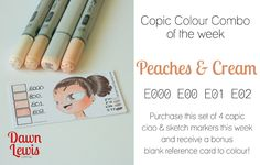 Copic Colour Combo of the week Peaches Cream Copic Drawings, Copic Sketch, Copic Pens, Copics, Copic Art, Copic Markers Tutorial, Copic Ciao, Spectrum Noir Markers, Color Of The Day