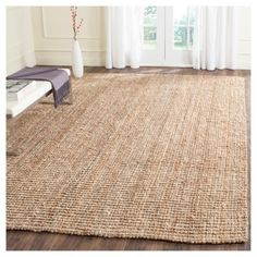 "Serena Natural Fiber Area Rug - Natural (7'-6"" X 9'-6"") - Safavieh"