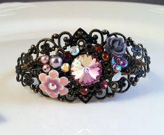 New Swarovski Pearl/Rivoli Pink Crystal by HisJewelsCreations, $54.00