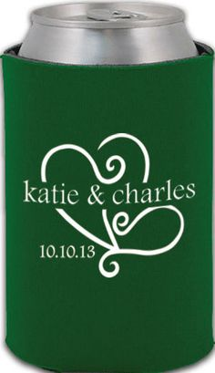 totally wedding koozies heart wedding design