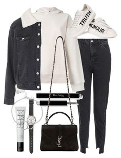 """Untitled #20977"" by florencia95 ❤ liked on Polyvore featuring Topshop, NARS Cosmetics, J.Crew, adidas Originals, Chupi, Alexander McQueen and Yves Saint Laurent"