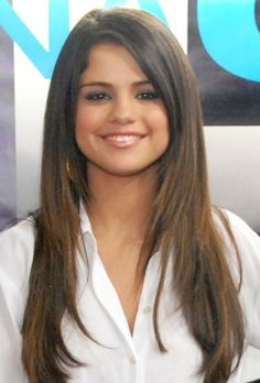 selena gomez straight hair | Selena Gomez Long Straight Cut - Selena Gomez Hair - StyleBistro | We ...