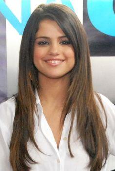 selena gomez straight hair  | Selena Gomez Long Straight Cut - Selena Gomez Hair - StyleBistro | We ...