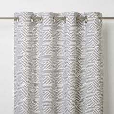 This Luena Jacquard weave curtain features a geometric pattern that'll elegantly dress your window. The unlined curtain with invisible stitching helps to control brightness and add privacy.