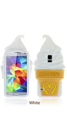 White Beige Soft Serve Ice Cream Cone Gel Phone Case Iphone Samsung Cover