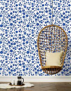 Hygge & West Wallpaper -Sketchbook Floral - Emily Isabella