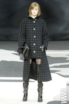 womensweardaily:    Fall 2013 Coat Trend: Rad Plaid    Chanel RTW Fall 2013