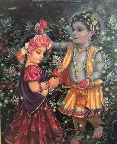 litlle Radika and Krsna Radha Krishna Holi, Krishna Lila, Little Krishna, Jai Shree Krishna, Cute Krishna, Lord Krishna Images, Radha Krishna Pictures, Krishna Radha, Radha Rani