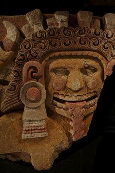 The Aztec earth mother goddess Tlaltecuhtli.  Location:Mexico City, Mexico.