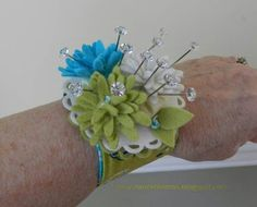 Wrist Pincushion. I thought it looked cute.