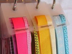 Organize Ribbon with Ribbon Rings. Ribbon Rings look gorgeous hanging on a coat rack or other hook in a craft area. Use additional metal rings to organize ribbon by color.