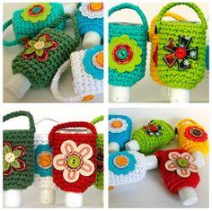 Hand Sanitizer Cozies - Free Crochet Pattern