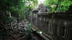 One of the largest Angkor temples Beng Mealea was built under King Suryavarman II, the founder of Angkor Wat. It is commonly believed to be a forerunner or 'blueprint' for Angkor Wat itself and is decorated in substantially the same art style. The temple has remained in its collapsed state, partly hidden by jungle and until recently