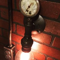 A personal favorite from my Etsy shop https://www.etsy.com/listing/241001053/steampunk-wall-sconce-light-industrial