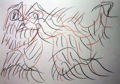 """""""Mostro felino III"""" 2012 Tecnica mista su carta 21x29,5 ©Pietro Gargano"""