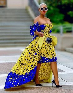 Ankara Styles Gown for Ladies: Lovely Design for Fashionable Ladies.Ankara Styles Gown for Ladies: Lovely Design for Fashionable Ladies African Party Dresses, African Print Dresses, African Print Fashion, Africa Fashion, African Fashion Dresses, African Attire, African Wear, Party Dresses For Women, African Prints