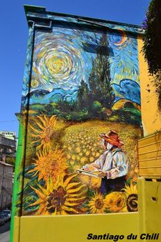 Peintures sur façade - Santiago du Chili
